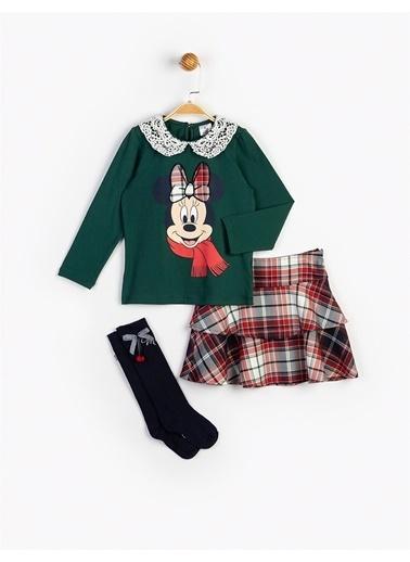 Minnie Mouse  Etekli Takım Ve Çorap 16119 Yeşil